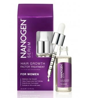 Nanogen Hair Growth Factor Treatment Serum Plaukų augimą skatinantis serumas moterims, 30ml | inbeauty.lt
