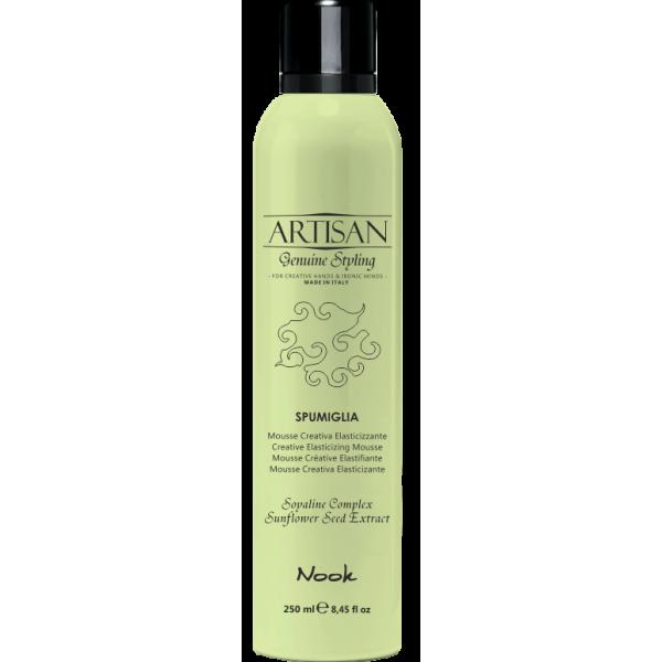 Artisan Spumiglia – elastingumo suteikiančios plaukų putos, 250 ml
