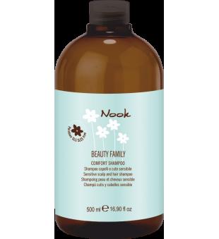 Nook Comfort Jautrią galvos odą raminantis ir drėkinantis šampūnas, 500 ml | inbeauty.lt