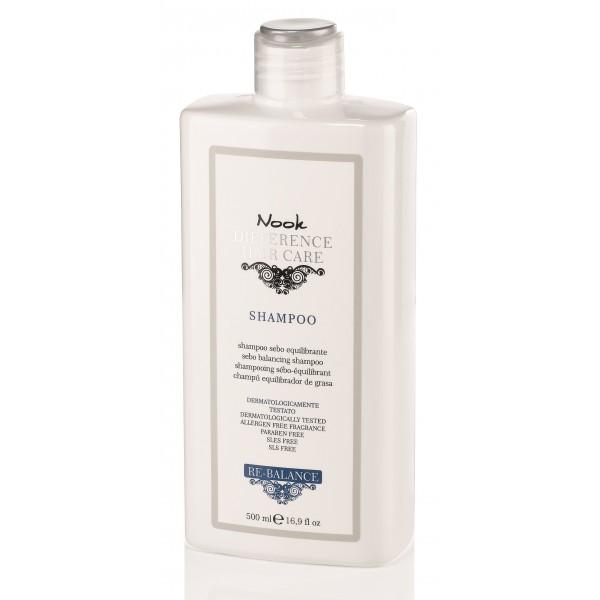 RE-BALANCE Šampūnas riebiai galvos odai, 500 ml