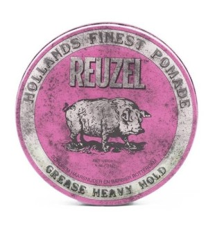 Reuzel Pink Grease Heavy Hold Pomade - Pomada plaukams, 113 g | inbeauty.lt