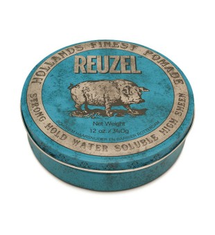 Reuzel Blue Strong Hold High Sheen Pomade - Pomada plaukams, 340 g | inbeauty.lt