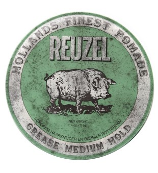 Reuzel Green Grease Medium Hold Pomade - Pomada plaukams, 340 g | inbeauty.lt