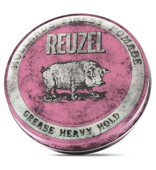 Reuzel Pink Grease Heavy Hold Pomade - Pomada plaukams, 340 g | inbeauty.lt