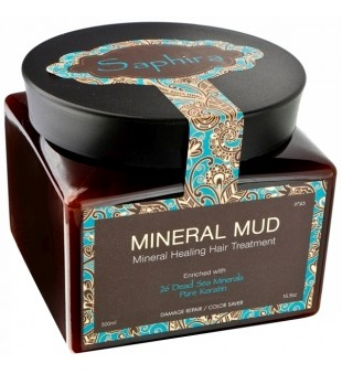 Saphira Mineral Hair Mud Mask with Keratin  Kaukė-mineralinis purvas plaukams su keratinu, 500 ml   inbeauty.lt