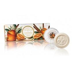 Apelsinų ir cinamono aromato muilų rinkinys, 3x100g