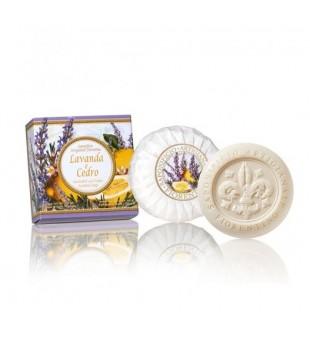 Fiorentino Lavender And Cedar Scented Soap Levandų ir kedrų aromato muilas, 100g   inbeauty.lt
