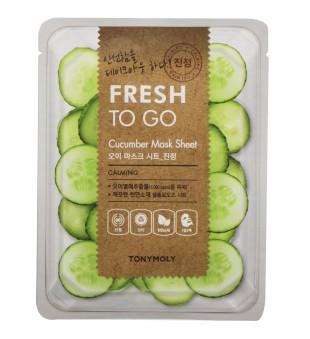 Tony Moly Fresh To Go Cucumber Mask Sheet Veido kaukė su agurkų ekstraktu, 1vnt. | inbeauty.lt