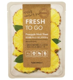 Tony Moly Fresh To Go Pineapple Mask Sheet Veido kaukė su ananasų ekstraktu, 1vnt. | inbeauty.lt