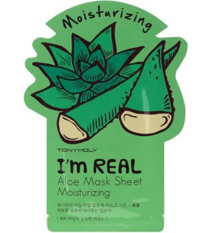 Tony Moly I'm Aloe Mask Sheet Lakštinė veido kaukė su alavijais, 1vnt. | inbeauty.lt