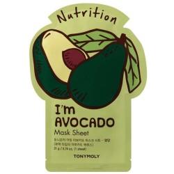 I'm Avocado Mask Sheet Lakštinė veido kaukė su avokadais, 1vnt