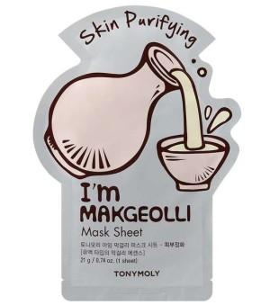 Tony Moly I'm Makgeolli Mask Sheet Lakštinė veido kaukė su ryžių vynu, 1vnt | inbeauty.lt