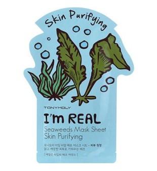 Tony Moly I'm Seaweed Mask Sheet Lakštinė veido kaukė su jūros dumbliais, 1vnt. | inbeauty.lt