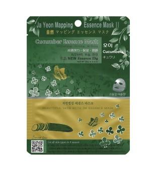 Ja Yeon Mapping  Cucumber Essence Mask Lakštinė veido kaukė su agurkų ekstraktu, 1vnt. | inbeauty.lt