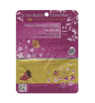 Ja Yeon Mapping  Grape Essence Mask Veido kaukė su vynuogių ekstraktu, 1vnt. | inbeauty.lt