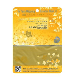 Ja Yeon Mapping  Lemon Essence Mask Lakštinė veido kaukė su citrinos ekstraktu, 1vnt.   inbeauty.lt