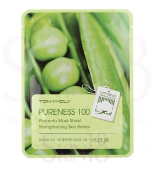 Tony Moly Pureness 100 Placenta Mask Sheet Lakštinė kaukė su placentos ekstraktu, 1vnt. | inbeauty.lt