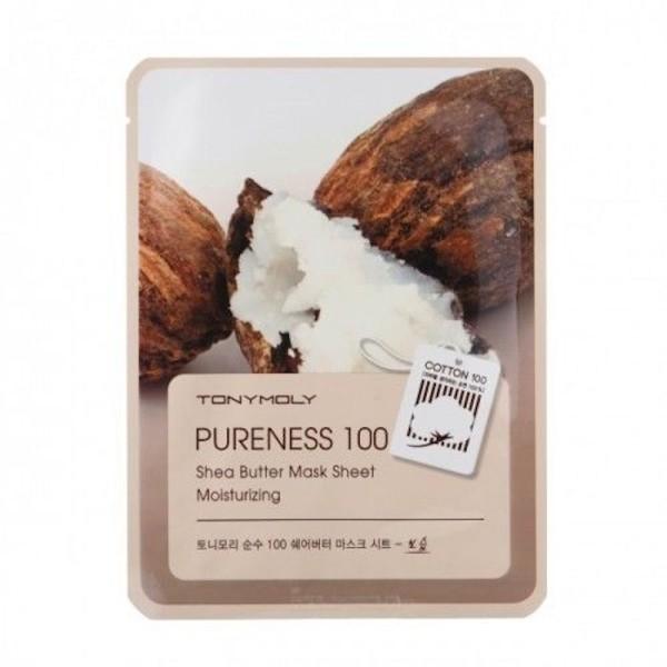 Pureness 100 Shea Butter Mask Sheet Lakštinė veido kaukė su sviestmedžiu, 1vnt.
