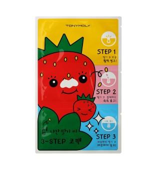 Tony Moly Runaway Strawberry Seeds Nosies pleistriukai - kaukė, 3 vnt.   inbeauty.lt