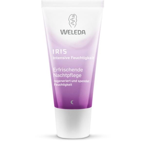 Iris Hydrating Night Cream Naktinis drėkinamasis veido kremas su vilkdalgiais, 30ml