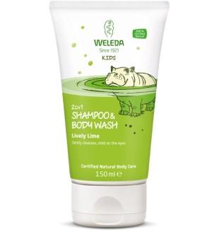Weleda Kids 2in1 Shampoo & Bodywash Lively Lime Šampūnas ir kūno prausiklis vaikams, 150ml | inbeauty.lt