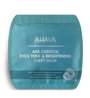 Ahava Age Control Even Tone & Brightening Sheet Mask Skaistinamoji lakštinė vaido kaukė, 1vnt | inbeauty.lt