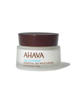 Ahava Time To Hydrate Essential Day Moisturizer Combination Skin Drėkinamasis veido kremas mišriai odai, 50ml   inbeauty.lt