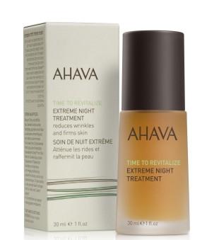 Ahava Time To Revitalize Extreme Night Treatment Jauninamasis naktinis veido serumas, 30ml | inbeauty.lt