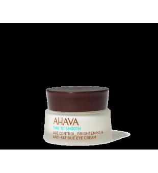 Ahava Time To Smooth Age Control, Brightening & Anti-Fatigue Eye Cream Skaistinamasis paakių kremas, 15ml   inbeauty.lt