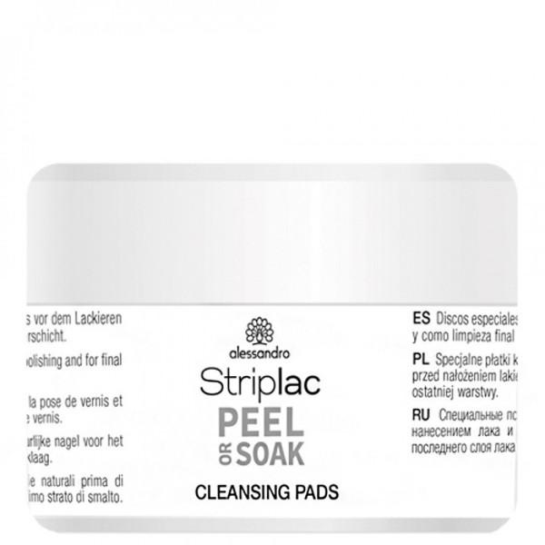 Striplac Peel Or Soak Cleansing Pads Valomosios servetėlės, 50vnt