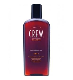 American Crew 3in1- šampūnas /kondicionierius/ dušo želė, 250ml | inbeauty.lt