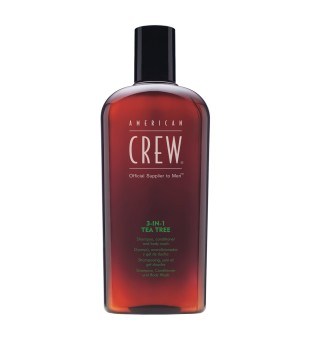 American Crew 3in1 Tea Tree - šampūnas /kondicionierius/ dušo želė, 250ml  | inbeauty.lt