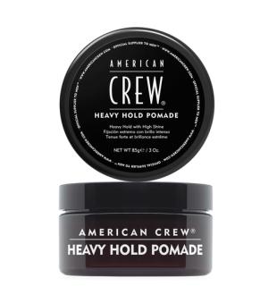 American Crew Heavy Hold Pomade Stiprios fiksacijos pomada, suteikianti žvilgesio, 85g   inbeauty.lt