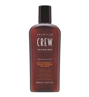 American Crew Anti-dandruff+ Sebum Control Shampoo Šampūnas nuo pleiskanų riebiai galvos odai, 250ml | inbeauty.lt