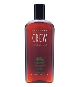 American Crew 3in1 Tea Tree - šampūnas /kondicionierius/ dušo želė, 450ml | inbeauty.lt