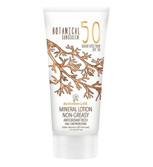 Australian Gold Botanical Sunscreen Mineral Lotion SPF50 Losjonas nuo saulės, 147ml | inbeauty.lt