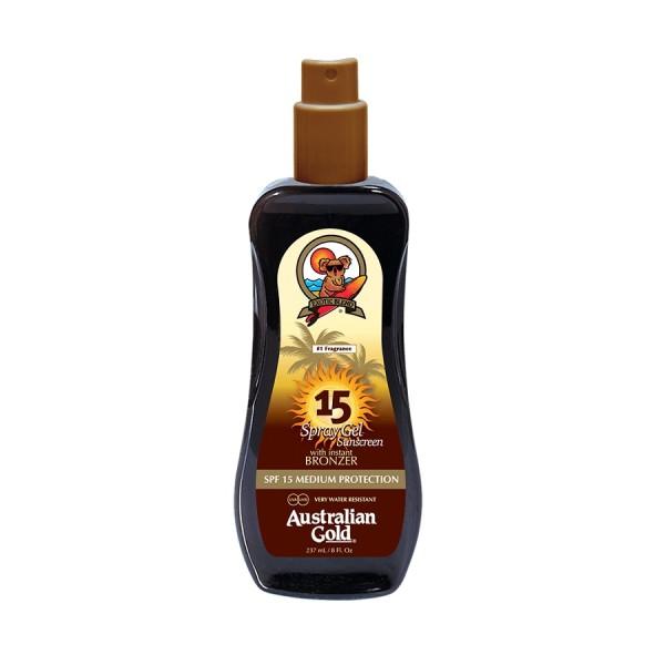 Spray Gel Sunscreen With Bronzers SPF15 Purškiamas losjonas nuo saulės su bronzatais, 237ml