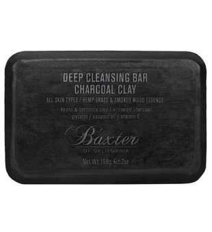 Baxter of California Deep Cleansing Bar Charcoal Clay Giliai valantis prausimosi muilas, 198g | inbeauty.lt