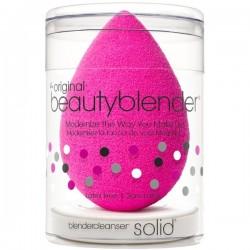 Original beautyblender + mini solid cleanser kit Makiažo kempinėlė ir mini muiliukas,1 kompl