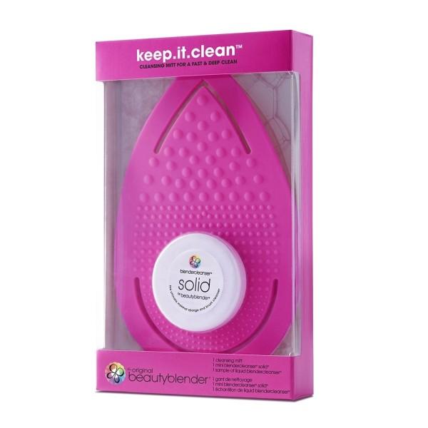 Keep It Clean Makiažo kempinėlių ir šepetėlių valymo rinkinys, 1 vnt.