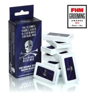 The Bluebeards Revenge Double-Edge Razor Blades Pack Dviašmeniai skutimosi peiliukai, 100 vnt. | inbeauty.lt