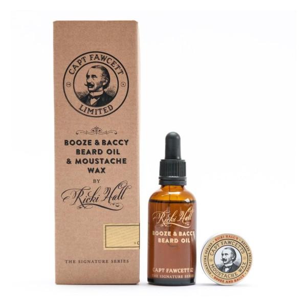 Booze & Baccy Beard Oil & Moustache Wax Gift Set Barzdos priežiūros rinkinys, 1vnt.
