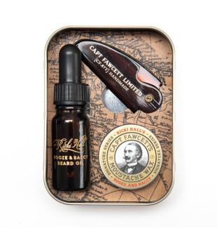 Captain Fawcett Finest Booze & Baccy Grooming Supplies Barzdos priežiūros rinkinys, 1vnt | inbeauty.lt
