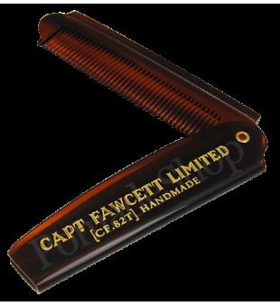 Captain Fawcett Folding Pocket Beard Comb Sulankstomos kišeninės barzdos šukos, 1vnt. | inbeauty.lt