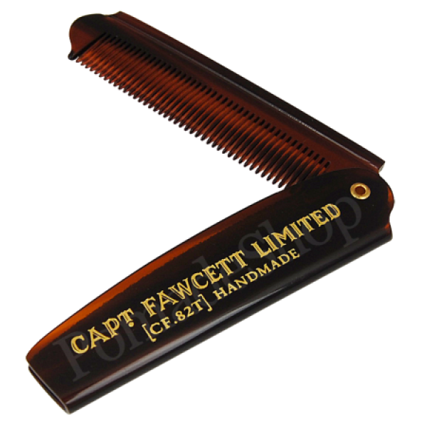 Folding Pocket Beard Comb Sulankstomos kišeninės barzdos šukos, 1vnt.