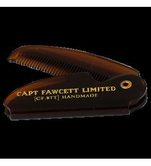 Captain Fawcett Folding Pocket Moustache Comb Sulenkiamos kišeninės ūsų šukos, 1vnt. | inbeauty.lt