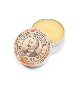 Captain Fawcett Gentleman's Stiffener Malt Whiskey Moustache Wax Ūsų vaškas, 15ml | inbeauty.lt