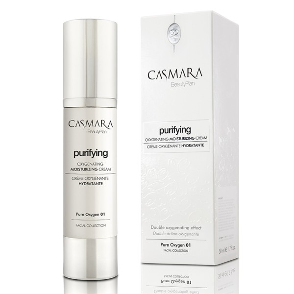 Purifying Oxygenating Moisturizing Cream Veido kremas su deguonimi, 50ml