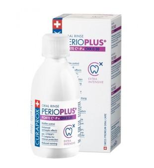 Curaprox Perio Plus + Forte Oral Rinse Burnos skalavimo skystis, 200ml | inbeauty.lt