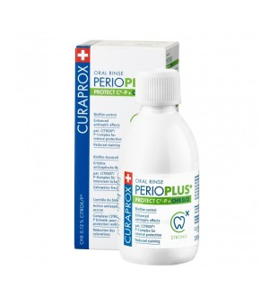 Curaprox Perio Plus + Protect Oral Rinse Burnos skalavimo skystis, 200ml | inbeauty.lt